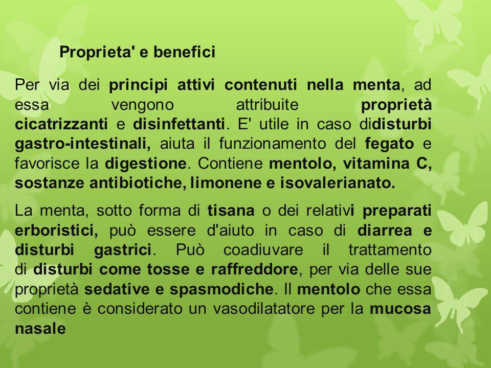 Proprieta e benefici