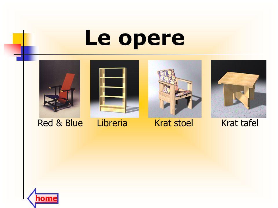 Le opere Red & Blue Libreria Krat stoel Krat tafel home