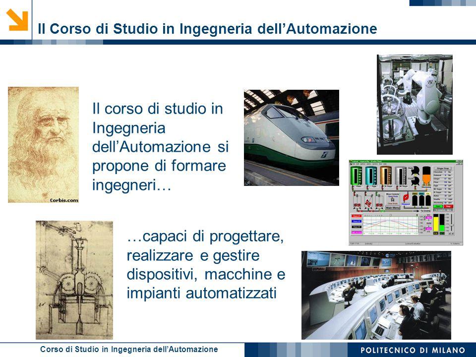 Il Corso di Studio in Ingegneria dell'Automazione