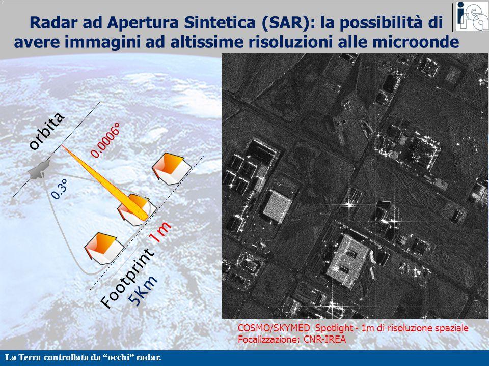 Radar ad Apertura Sintetica (SAR): la possibilità di avere immagini ad altissime risoluzioni alle microonde