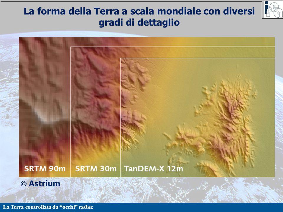 La forma della Terra a scala mondiale con diversi gradi di dettaglio