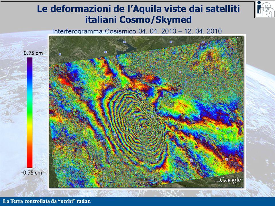 Le deformazioni de l'Aquila viste dai satelliti italiani Cosmo/Skymed