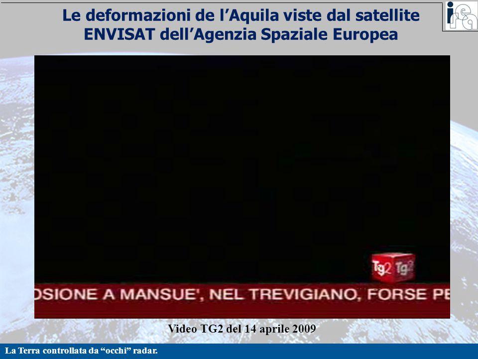 Le deformazioni de l'Aquila viste dal satellite ENVISAT dell'Agenzia Spaziale Europea