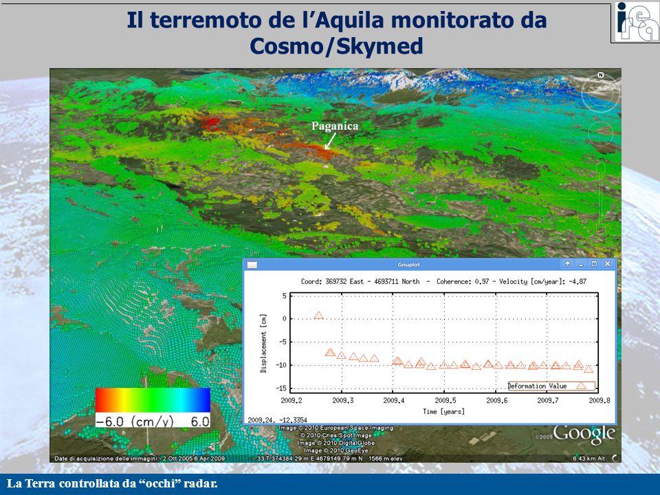 Il terremoto de l'Aquila monitorato da Cosmo/Skymed