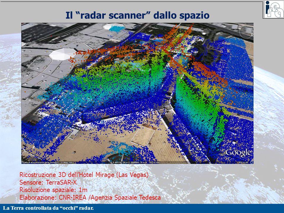 Il radar scanner dallo spazio