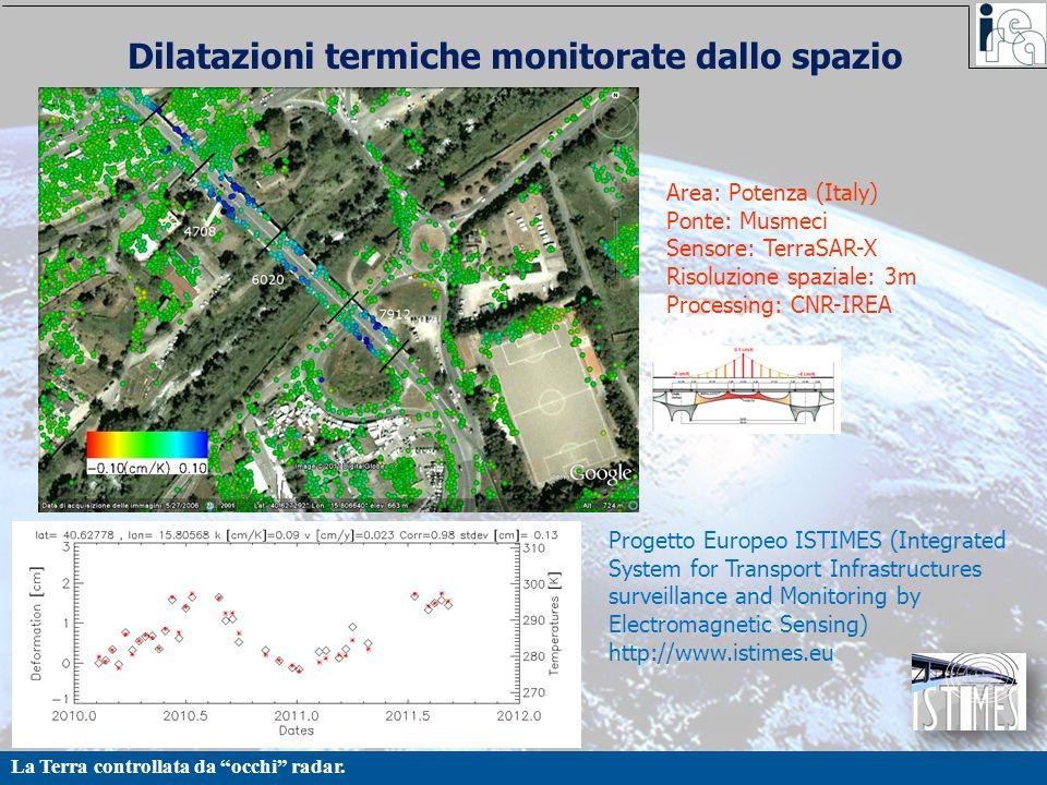 Dilatazioni termiche monitorate dallo spazio