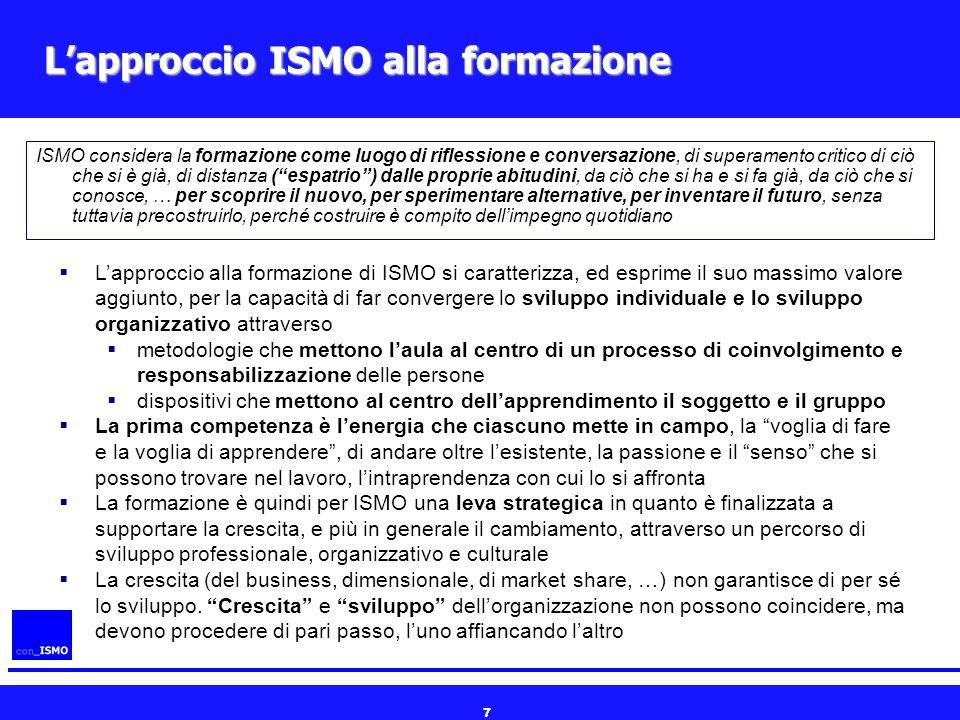 L'approccio ISMO alla formazione