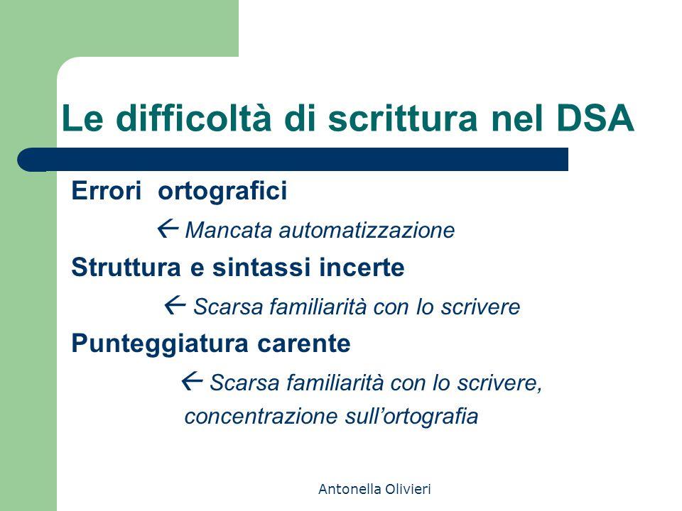 Le difficoltà di scrittura nel DSA