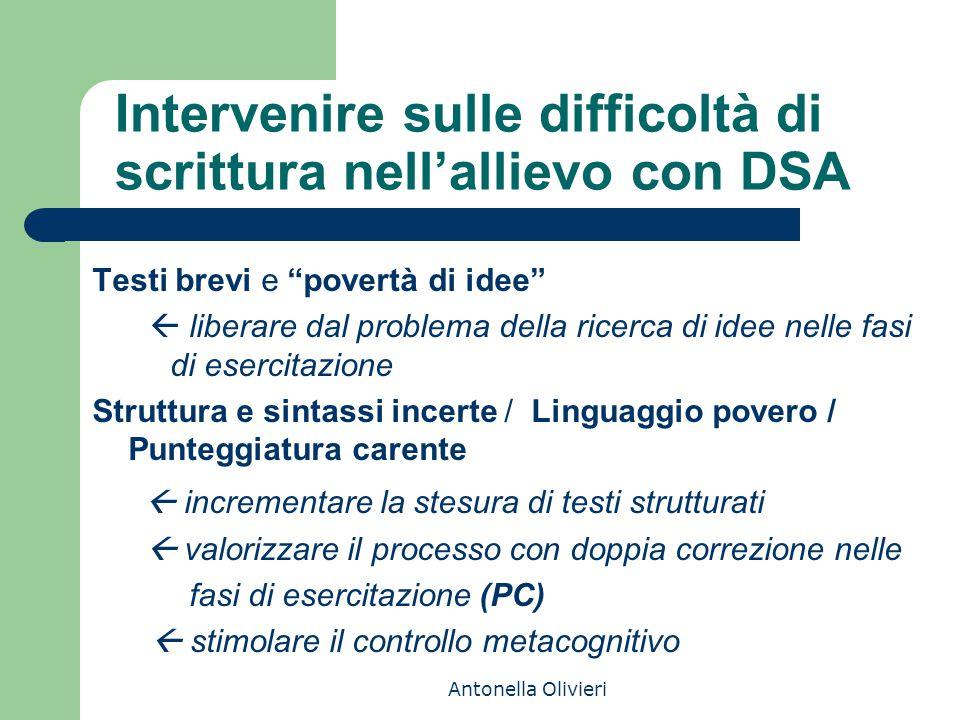 Intervenire sulle difficoltà di scrittura nell'allievo con DSA