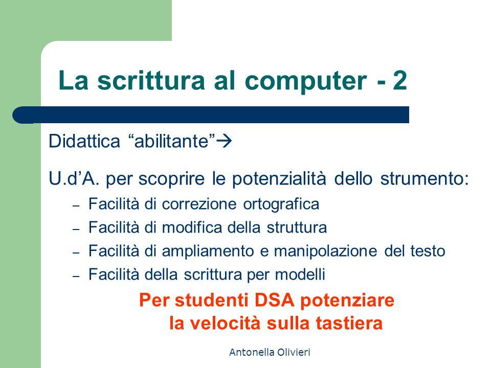 La scrittura al computer - 2