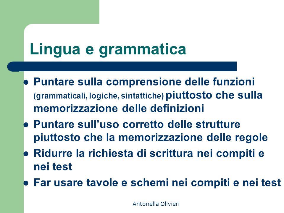 Lingua e grammatica