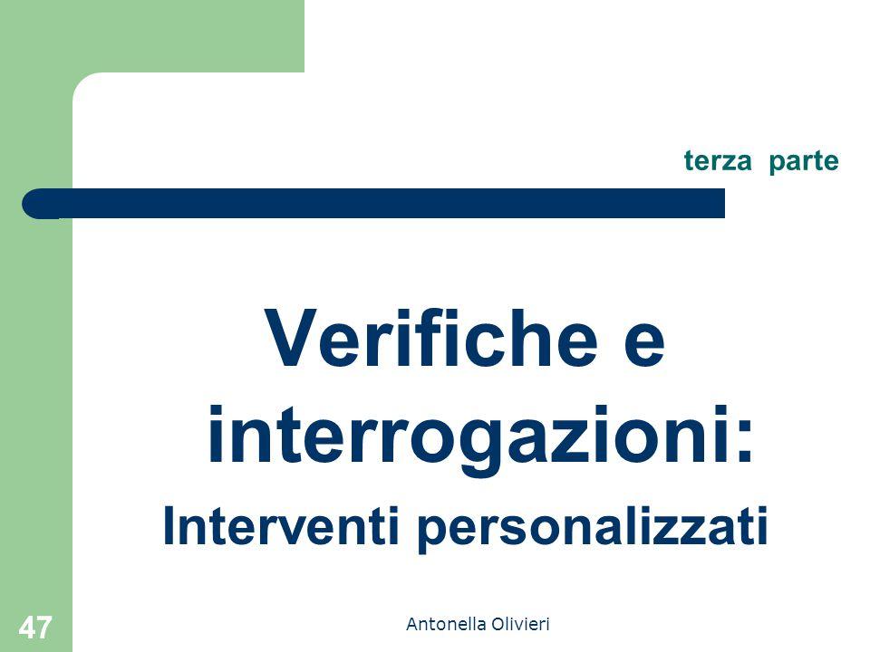 Verifiche e interrogazioni: Interventi personalizzati