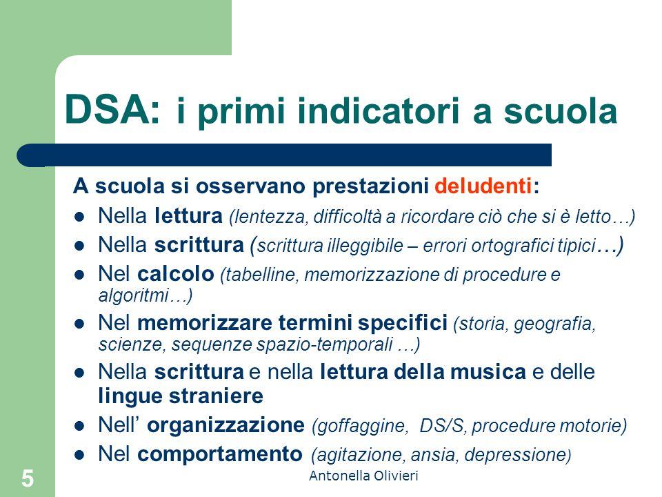DSA: i primi indicatori a scuola