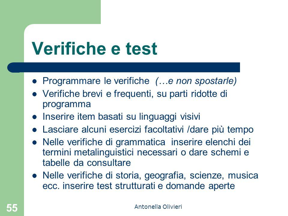 Verifiche e test Programmare le verifiche (…e non spostarle)