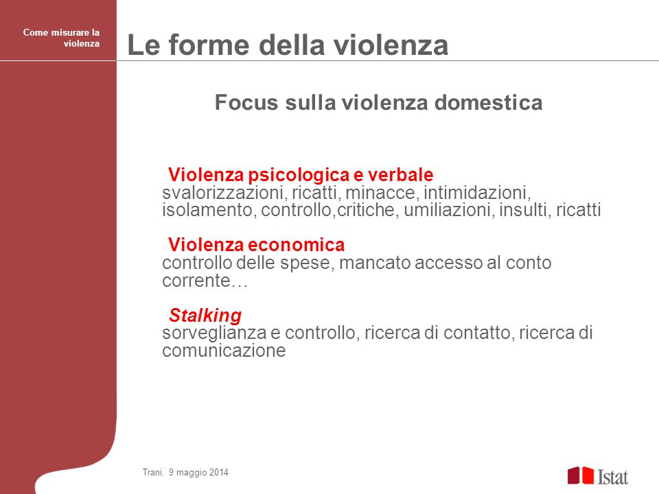 Focus sulla violenza domestica
