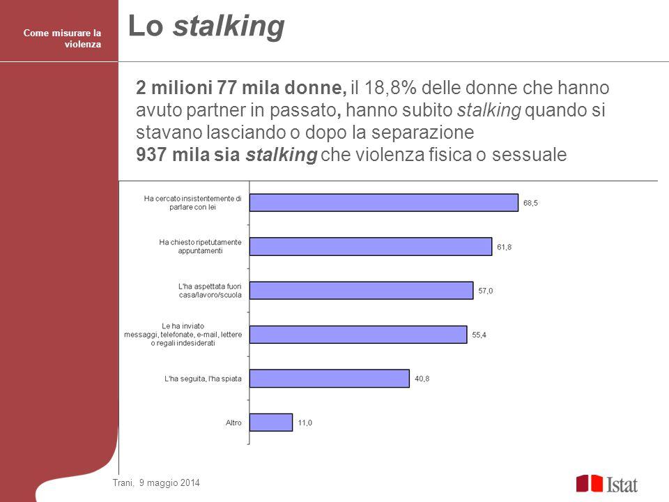 Lo stalking Come misurare la violenza.