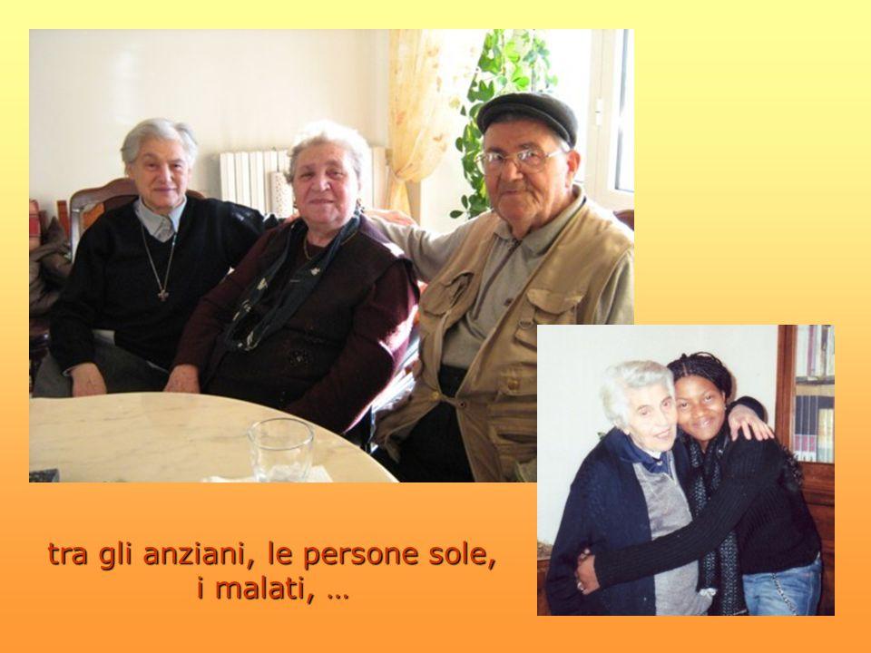 tra gli anziani, le persone sole, i malati, …