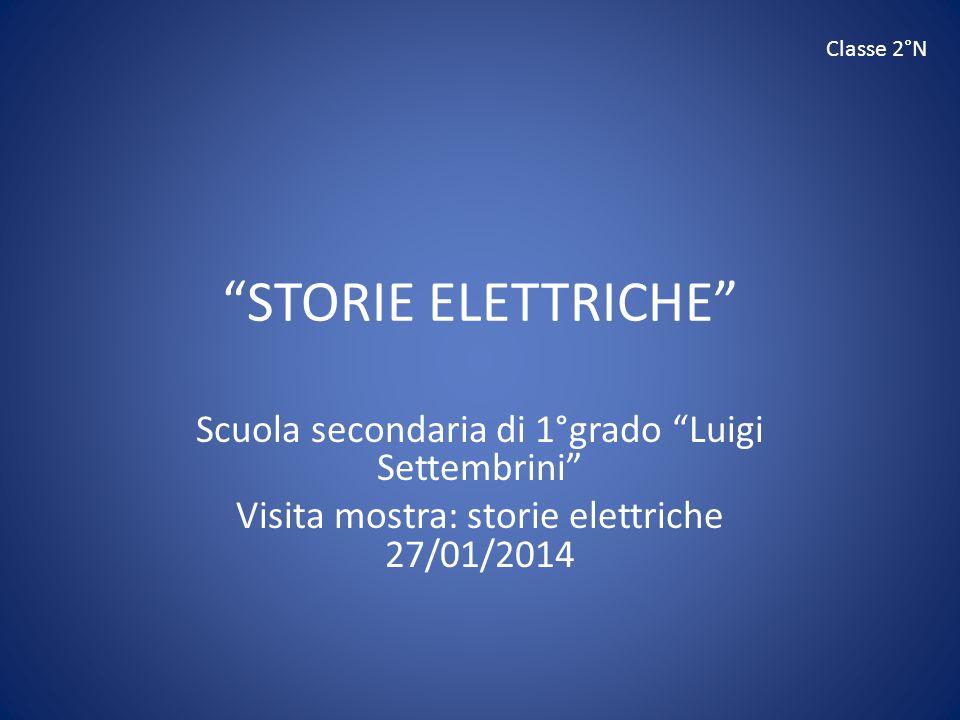 STORIE ELETTRICHE Scuola secondaria di 1°grado Luigi Settembrini