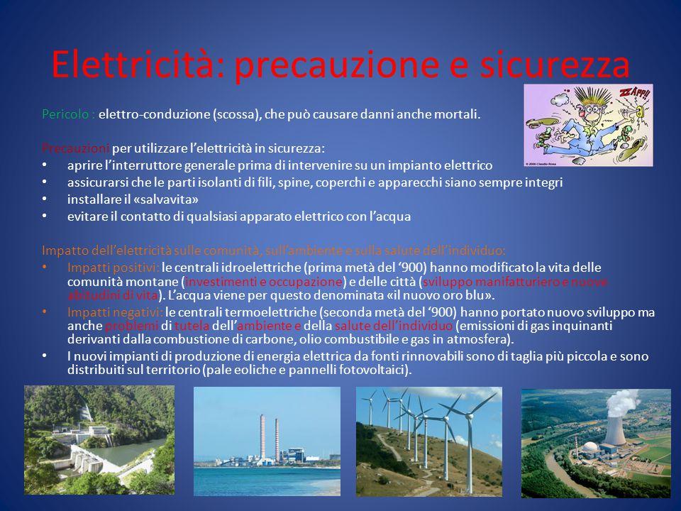 Elettricità: precauzione e sicurezza