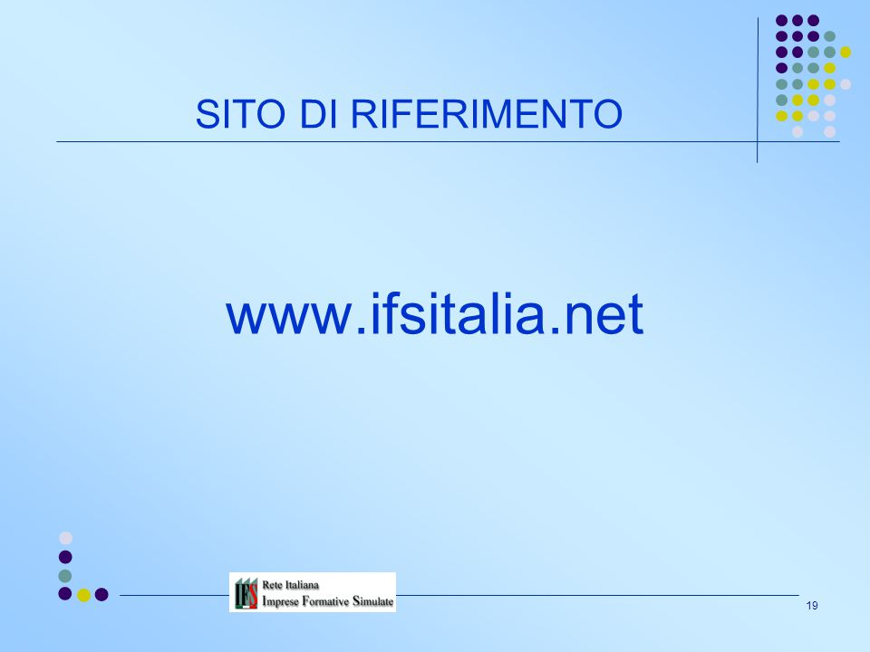 SITO DI RIFERIMENTO www.ifsitalia.net
