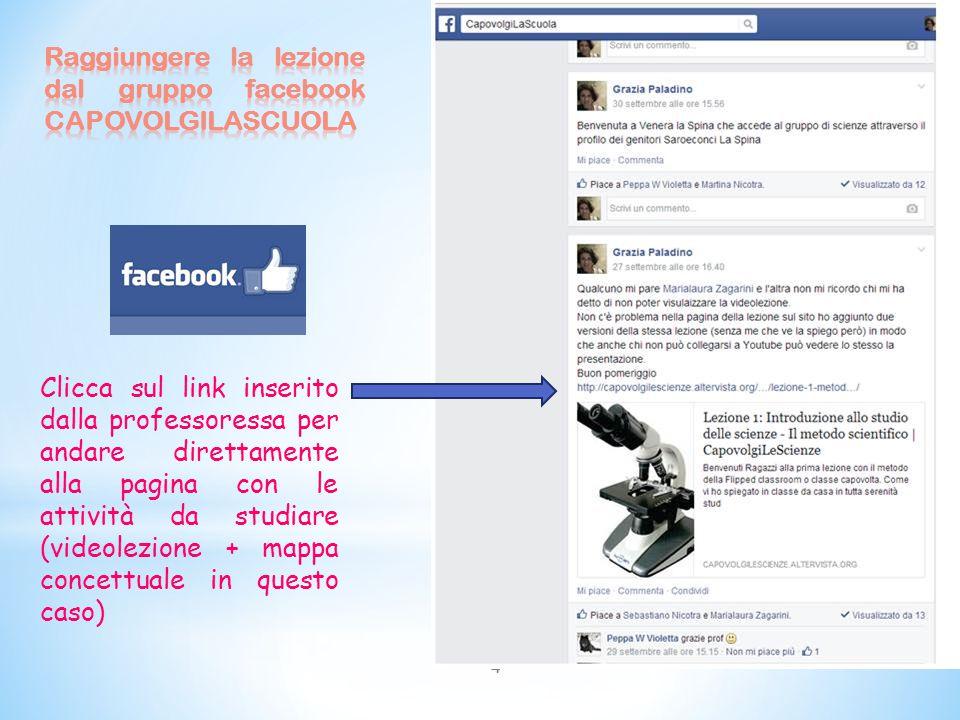 Raggiungere la lezione dal gruppo facebook CAPOVOLGILASCUOLA