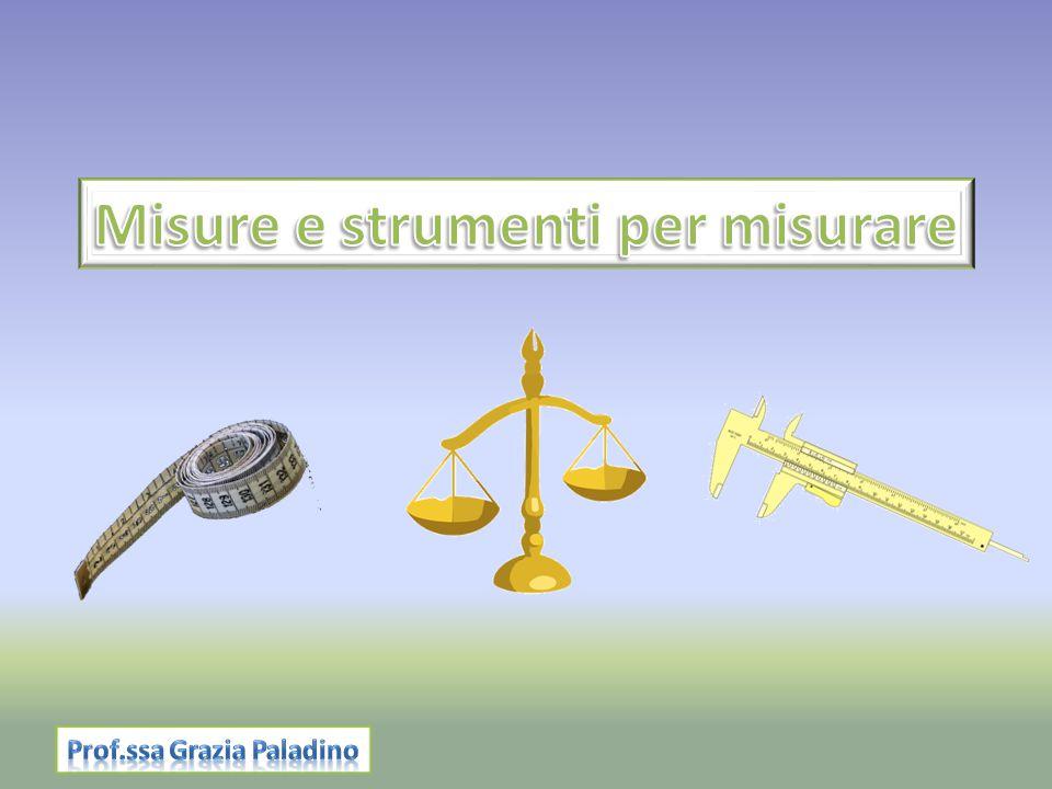 Misure e strumenti per misurare Prof.ssa Grazia Paladino