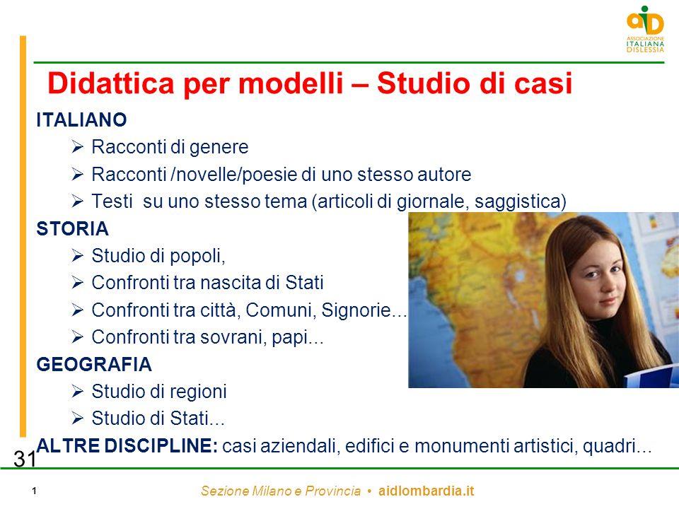 Didattica per modelli – Studio di casi