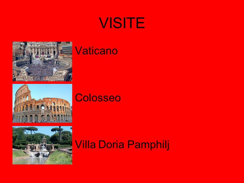 VISITE Vaticano Colosseo Villa Doria Pamphilj