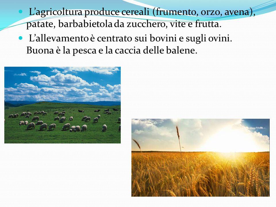 L'agricoltura produce cereali (frumento, orzo, avena), patate, barbabietola da zucchero, vite e frutta.