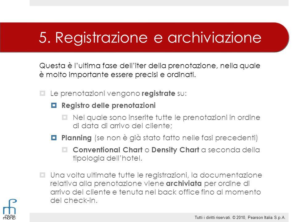 5. Registrazione e archiviazione