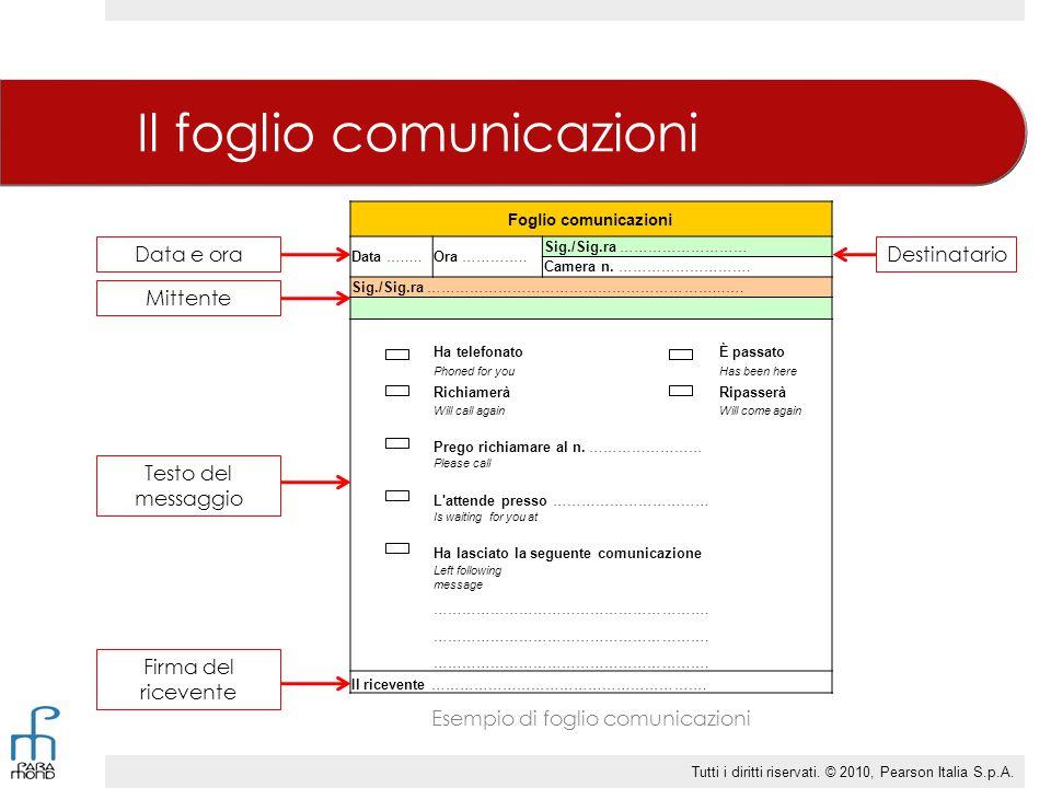 Il foglio comunicazioni