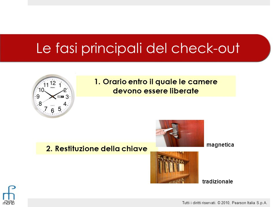 Le fasi principali del check-out