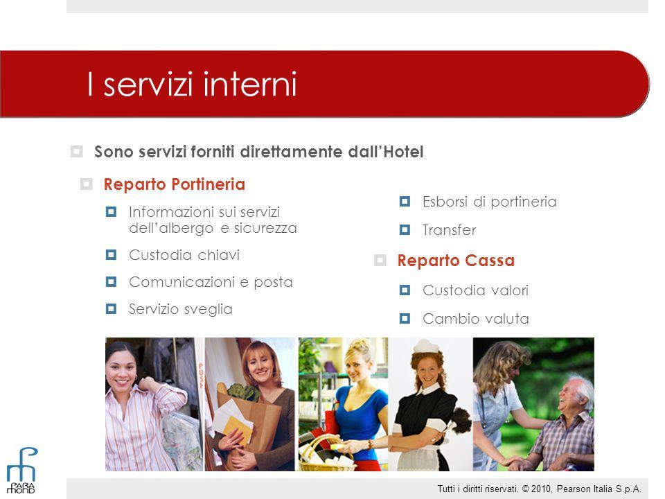 I servizi interni Sono servizi forniti direttamente dall'Hotel