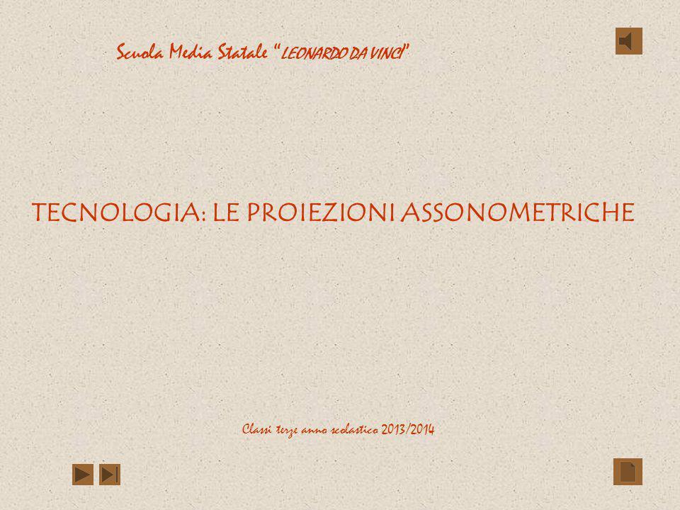 TECNOLOGIA: LE PROIEZIONI ASSONOMETRICHE