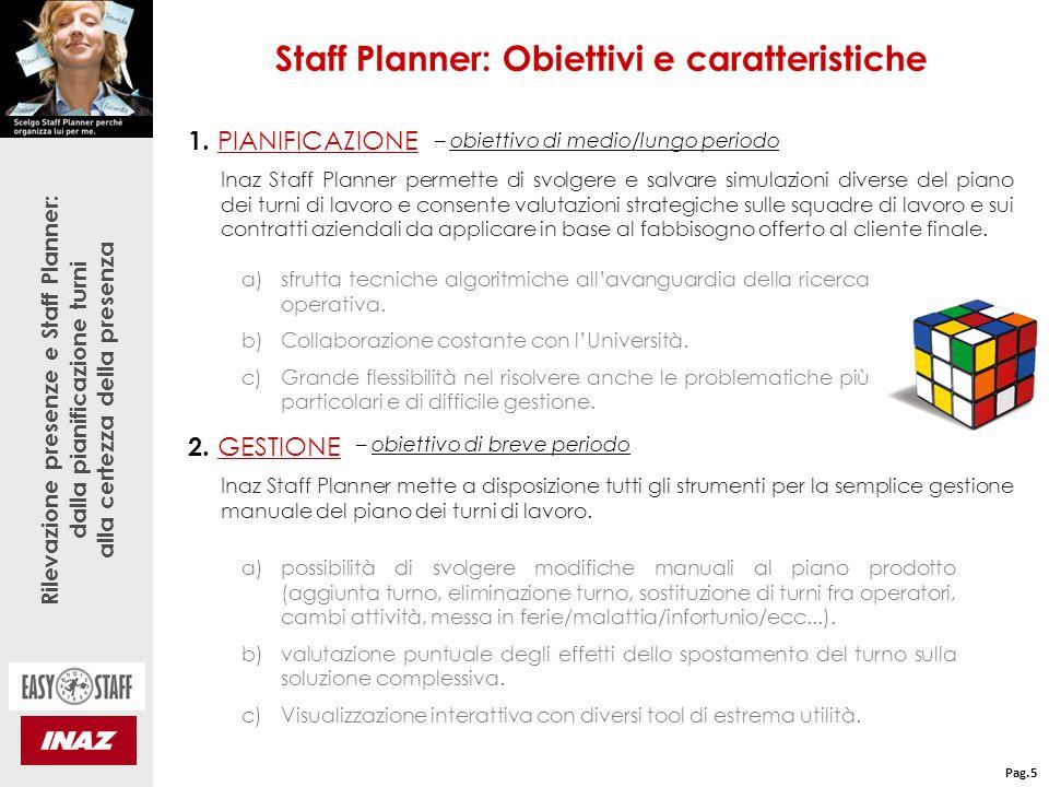 Staff Planner: Obiettivi e caratteristiche