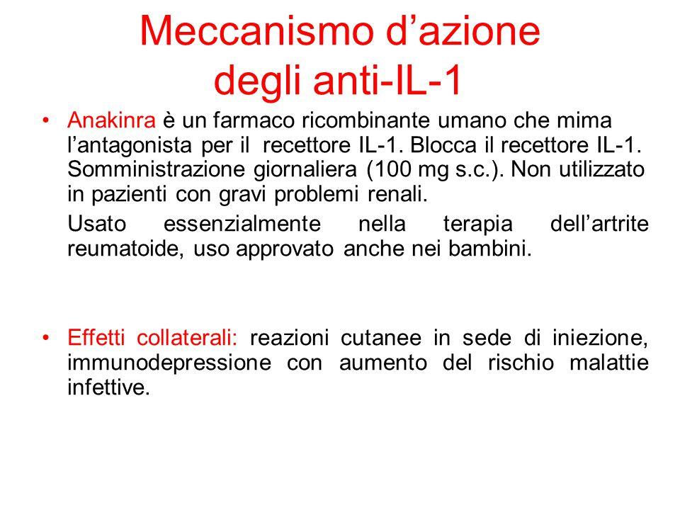 Meccanismo d'azione degli anti-IL-1