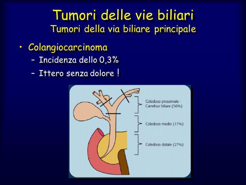 Tumori delle vie biliari Tumori della via biliare principale