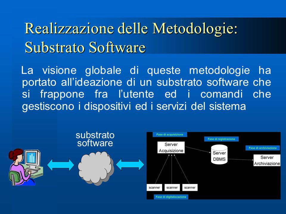 Realizzazione delle Metodologie: Substrato Software