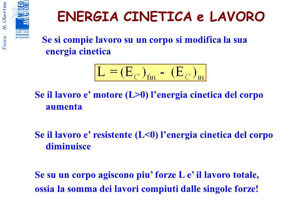 ENERGIA CINETICA e LAVORO