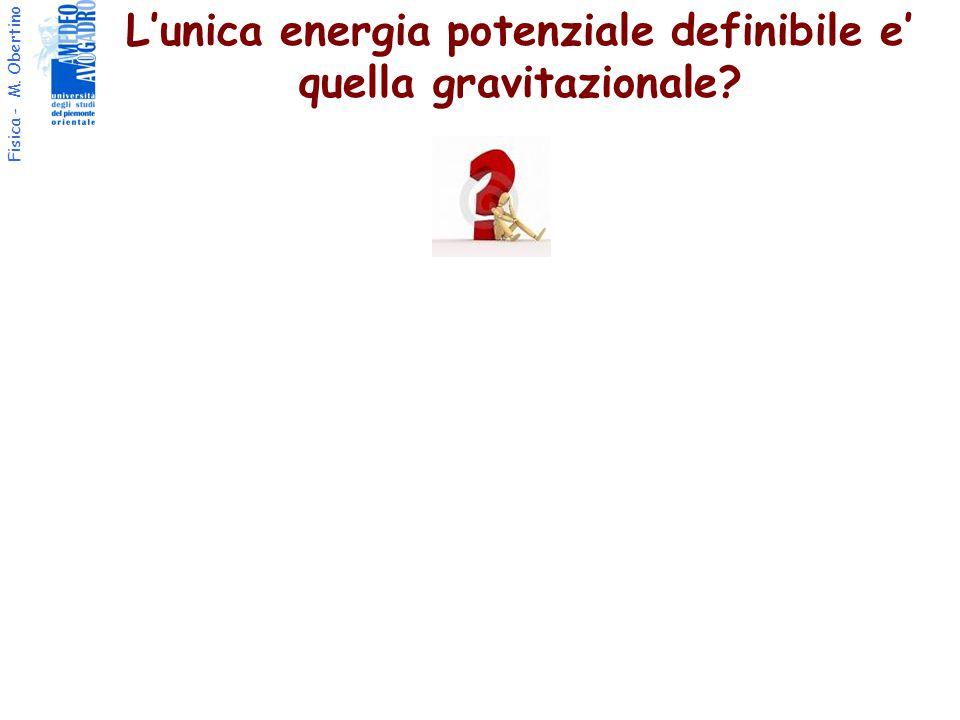 L'unica energia potenziale definibile e' quella gravitazionale