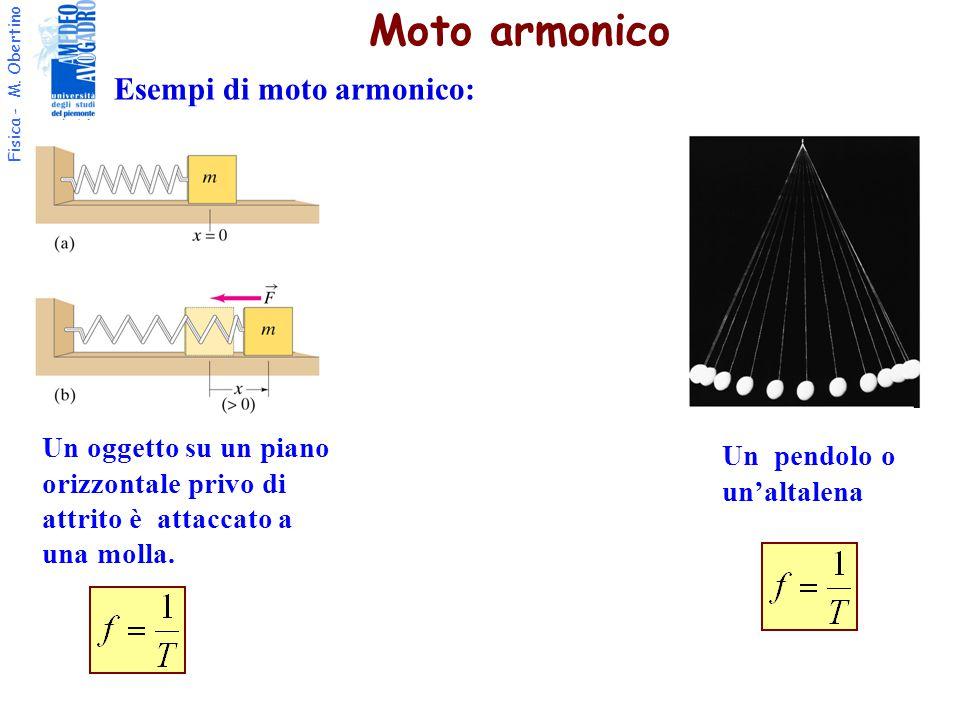 Moto armonico Esempi di moto armonico: