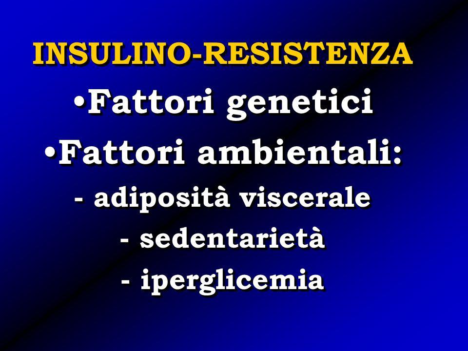 Fattori genetici Fattori ambientali: