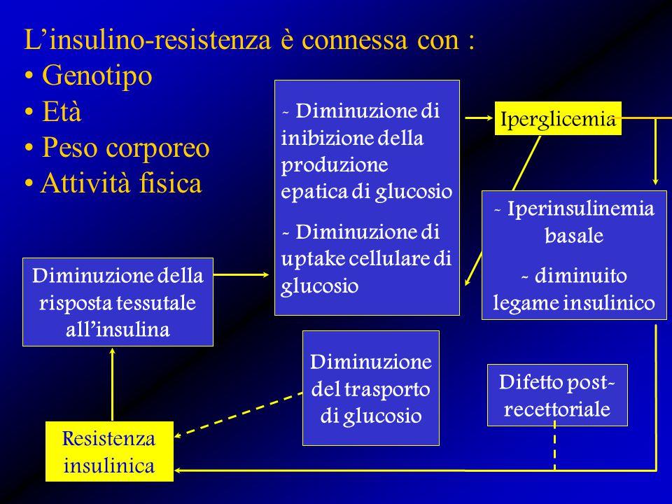 L'insulino-resistenza è connessa con : Genotipo Età Peso corporeo