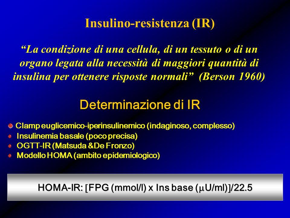 Insulino-resistenza (IR)