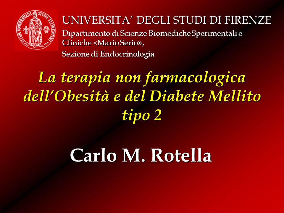 La terapia non farmacologica dell'Obesità e del Diabete Mellito tipo 2