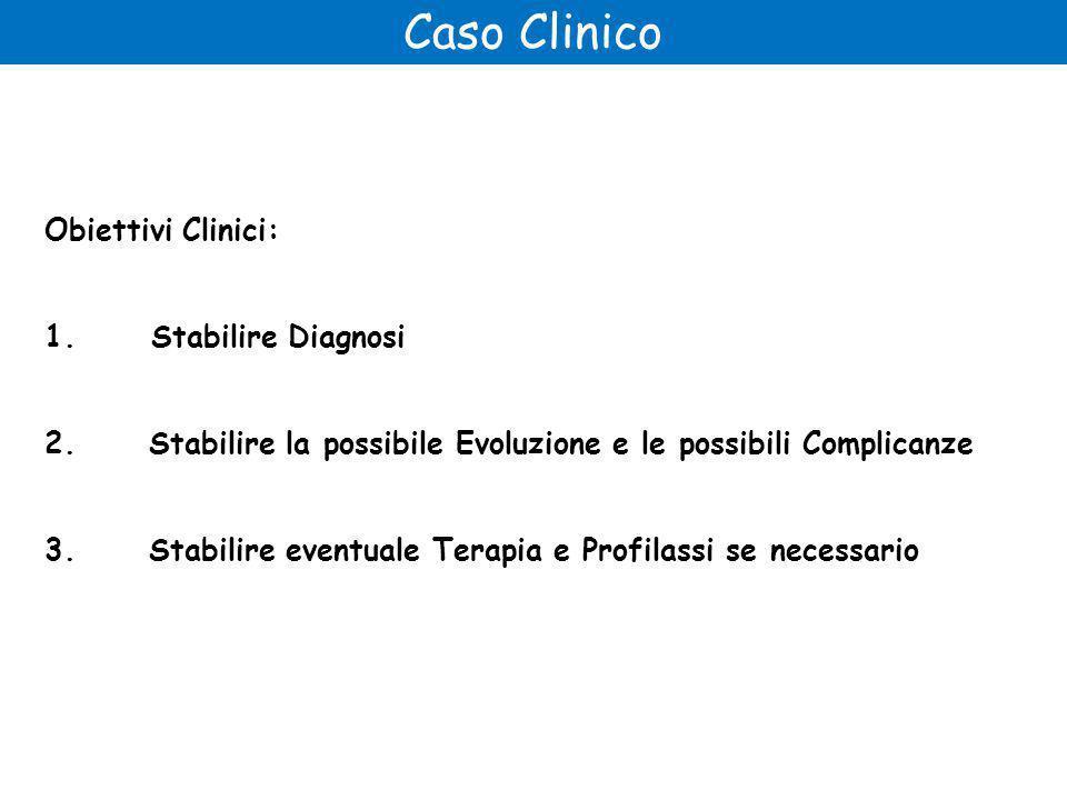 Caso Clinico Obiettivi Clinici: 1. Stabilire Diagnosi