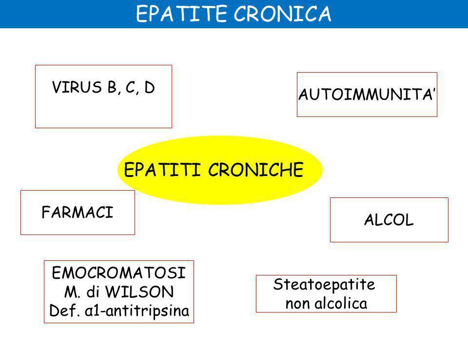 EPATITE CRONICA EPATITI CRONICHE VIRUS B, C, D AUTOIMMUNITA' FARMACI