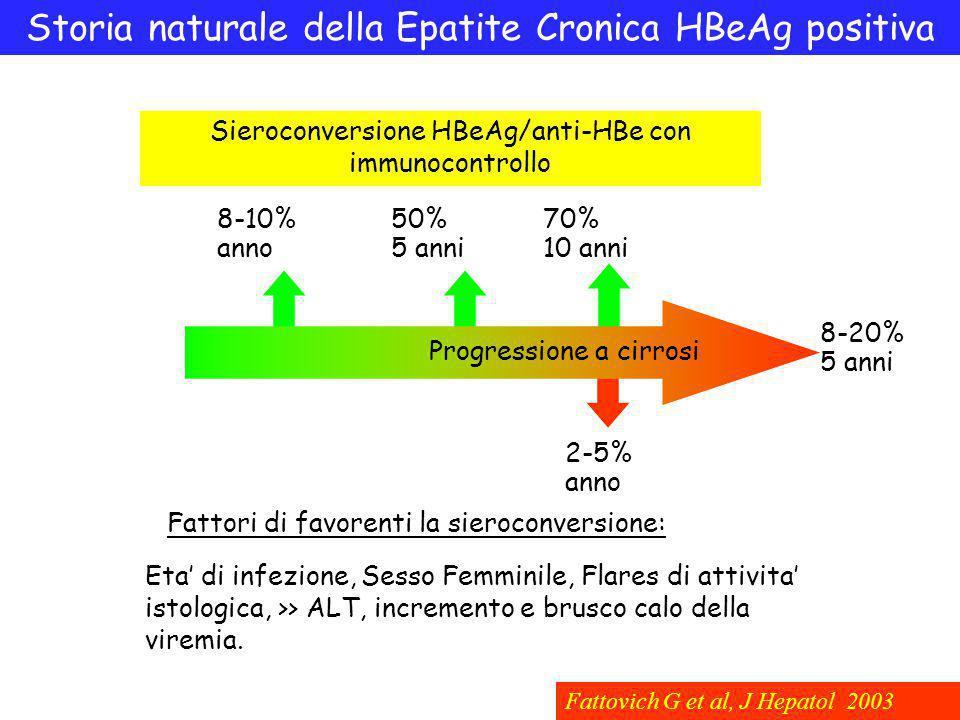 Storia naturale della Epatite Cronica HBeAg positiva