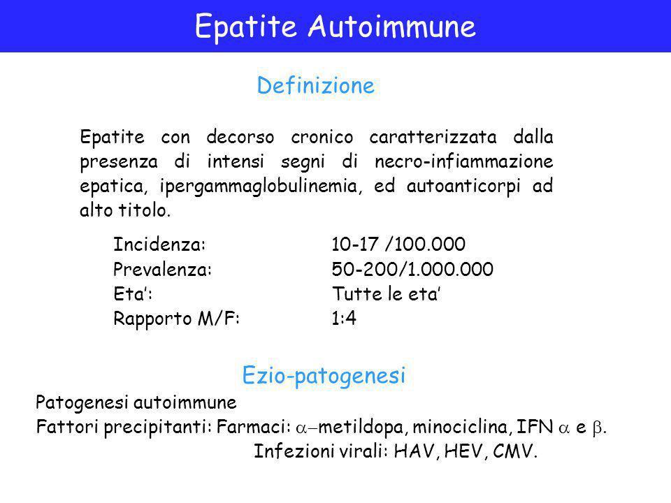 Epatite Autoimmune Definizione Ezio-patogenesi