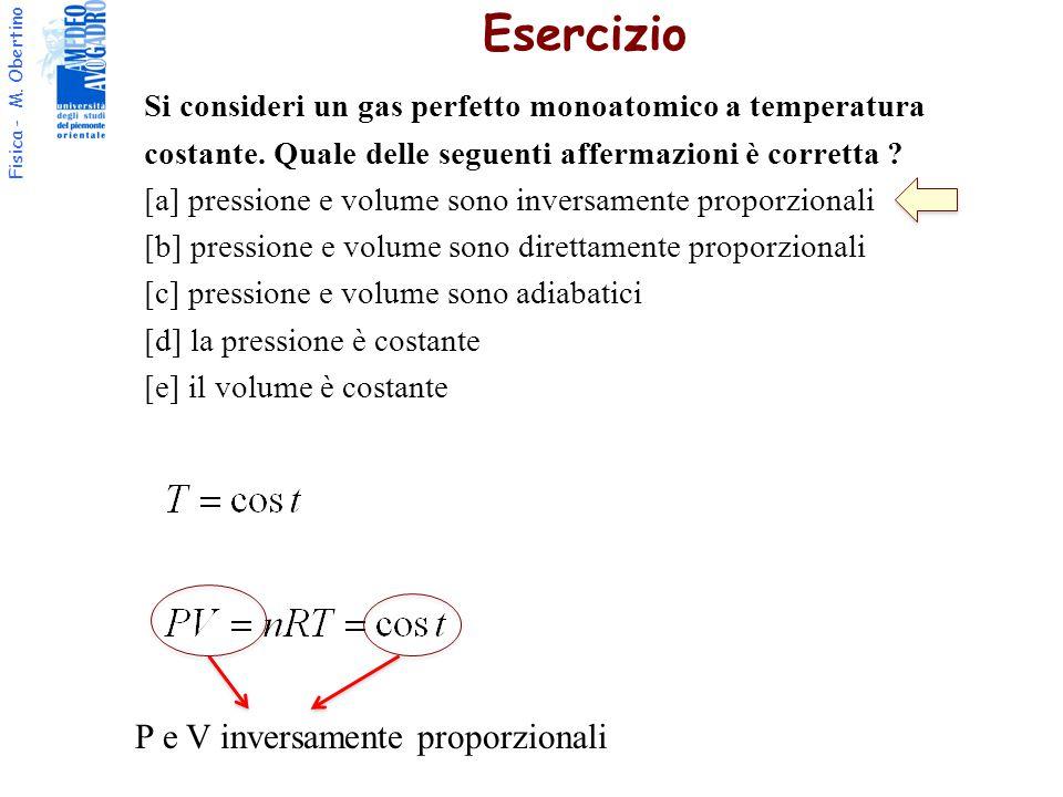 Esercizio P e V inversamente proporzionali